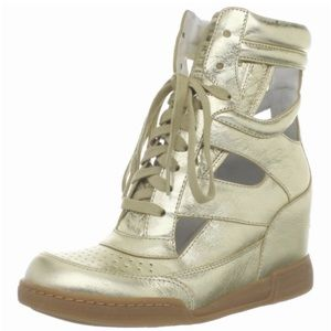 Marc by Marc Jacobs Metallic Wedge Leathersneakers